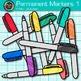 Permanent Marker Clip Art {Back to School Supplies for Classroom Decor} 1