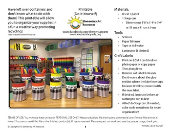 Permanent Markers Labeling Cards for Bins or Labels & Classroom Organization