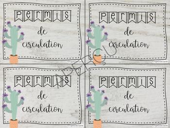 "Permis de circulation ""cactus"""