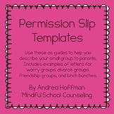 Permission Slip Letters for Small Group School Counseling