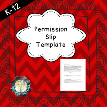 Permission Slip Template
