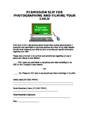Permission Slip to Video/Photograph Students