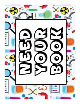 Permission and Questions Signs for Classroom Display with Science Theme EDITABLE