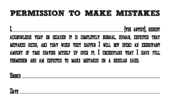 Permission to Make Mistakes