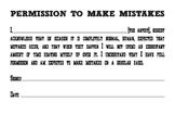 Permission to Make Mistakes