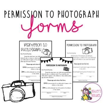 Permission to Photograph Form