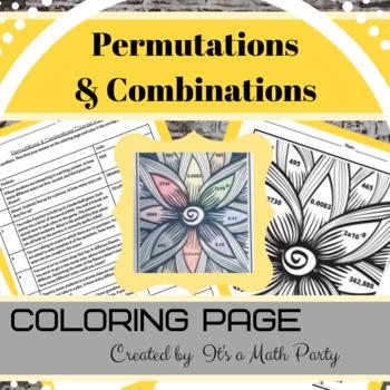 Permutations & Combinations - Coloring Activity