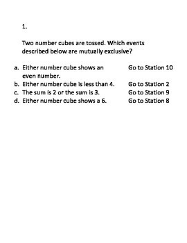 Permutations, Combinations, & Probability CIRCUIT (Review