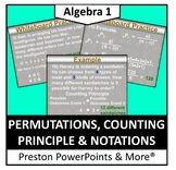 Permutations, Counting Principle and Notations in a PowerPoint