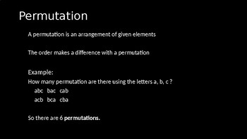 Permutations - PowerPoint Lesson (10.6)