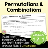 Permutations & Combinations (Algebra 2 - Unit 12)