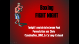 Permutations and Combinations Boxing Match