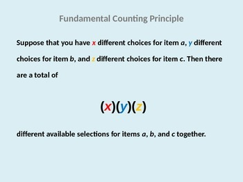 Permutations and Combinations Lesson Opener