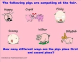 Permutations - county fair theme - Smartboard Lesson - common core aligned