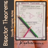 Perpendicular Bisector & Angle Bisector Theorems Doodle Notes Graphic Organizer