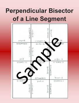 Perpendicular Bisector of a Line Segment – Math puzzle