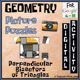 Perpendicular Bisectors of Triangles - Picture Puzzle - Digital Activity