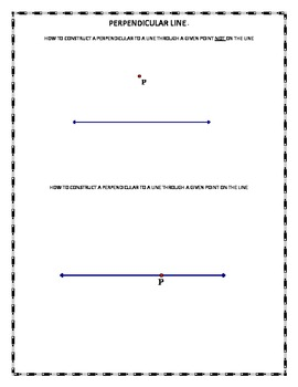 Perpendicular Line Construction - Altitudes of Triangle - Orthocenter