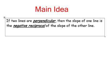 Perpendicular Lines Lesson