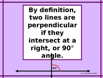 Power-Point:  Perpendicular Lines in Algebra