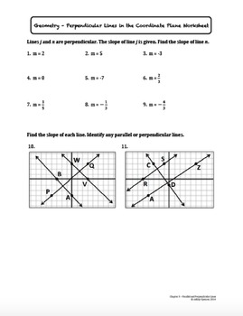 Perpendicular Lines in the Coordinate Plane (Lesson with Homework)