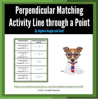 Perpendicular Matching Activity - Line Through a Point