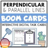 Perpendicular & Parallel Lines Boom Cards Distance Learning