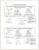Perpendicular and Angle Bisectors Notes
