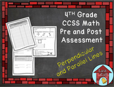 Perpendicular and Parallel Line Assessment CCSS Aligned
