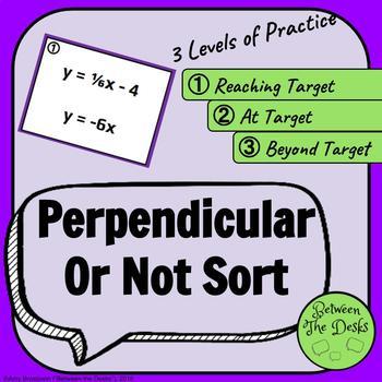 Perpendicular or Not Card Sort