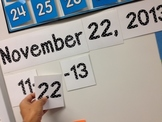 Perpetual Calendar Display Dates for Whiteboard