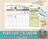 Perpetual Calendar in Spanish, Circle Time Resource, Class