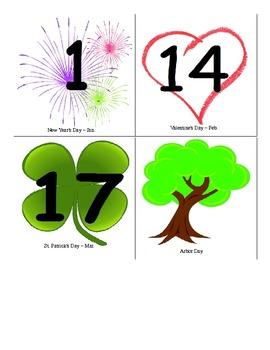 Perpetual Classroom Calendar / Date Display