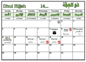 Perpetual Hijri Calendar