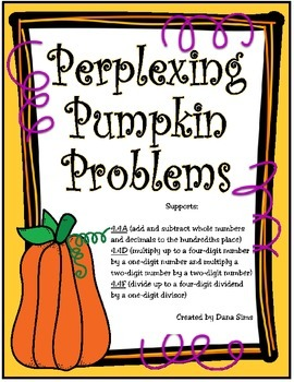 Perplexing Pumpkin Problems (TEKS 4.4A, 4.4D, 4.4F)