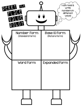 Perry the Place Value Robot Student Poster