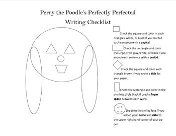 Perry the Pooch's Writing  Checklist