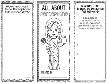 Persephone - Greek Mythology Biography Research Project -