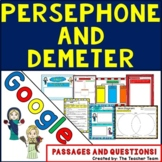Persephone & Demeter | Passages and Questions | Google Classroom Activities