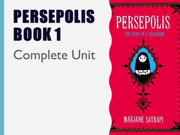 Persepolis Book 1 Unit With Packet By Diversity In Literature And Vocabulary