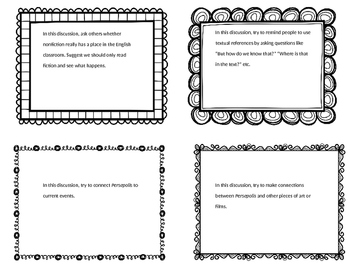 Persepolis: Discussion Role Cards