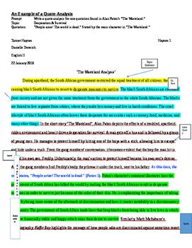 Persepolis Quote Analysis Paragraph