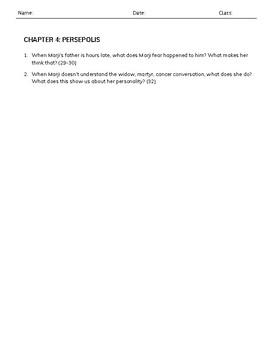 Persepolis Text Dependent Questions
