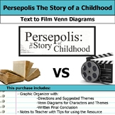 Persepolis - Text to Film Venn Diagram & Written Conclusion