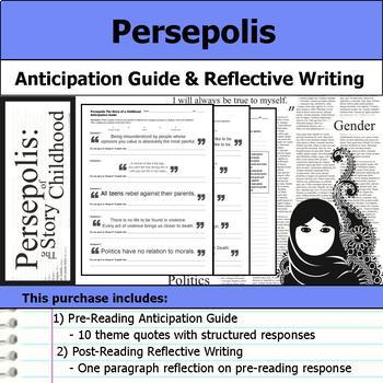 Persepolis The Story of a Childhood Unit Bundle