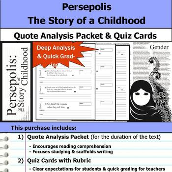 Persepolis The Story of a Childhood - Quote Analysis & Reading Quizzes