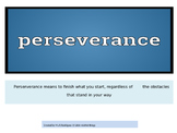 Perserverance A character trait