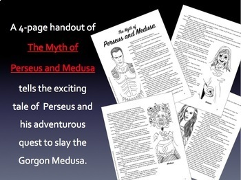 Perseus and Medusa: Greek Mythology Reading Response Activity