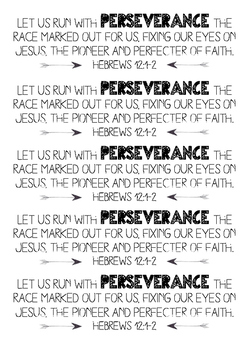 Perseverance Bookmarks