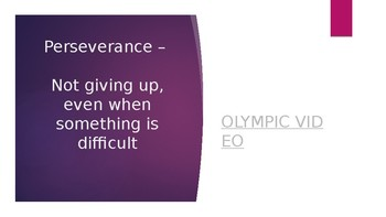 Perseverance & Career Powerpoint Lesson